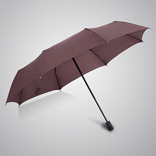 HNback Umbrellas Regenschirm Taschenschirm Doppel Winddicht Regenschirm Handbuch Offen Dreifach Sonnenschutz Anti-UV Winddicht Unternehmen, Männer Und Frauen Studenten HNBY (Color : #3)