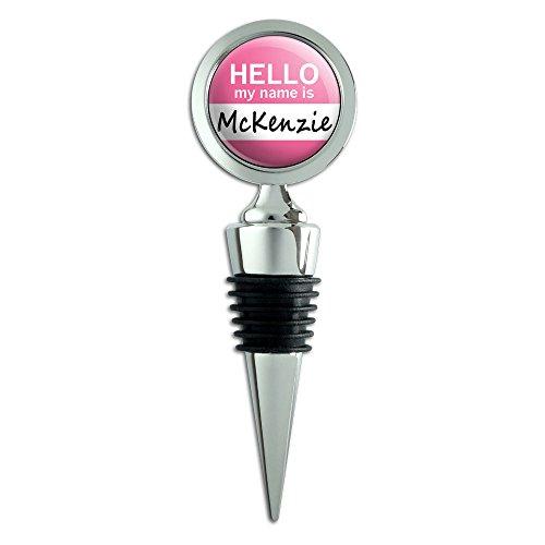 Mckenzie Hello My Name Is Wein Flasche Stopper (Metall Mckenzie)