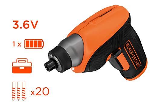 ATORNILLADOR CS3652LCATQW 3,6V 1,5AH+ACC - BLACK & DECKER - CS3652LCAT-QW - 5035048617304