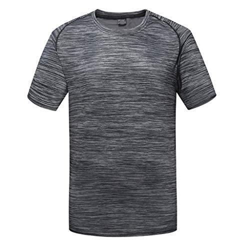 LUCKYCAT Herren T-Shirt atmungsaktives Sportshirt kurzärmliges und schnelltrocknendes Trainingsshirt mit enganliegender Passform T-Shirt atmungsaktiv Trainingsshirt Kurze Ärmel Herren Fitnessshirt -