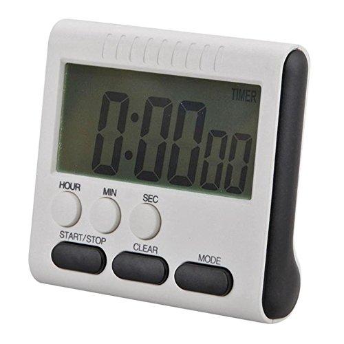 Digital Elektronischer Timer, 24h Magnetische Küchen Timer Küchenuhr Kurzzeitmesser Stoppuhr mit Laut Alarm, Großem Display-Bildschirm