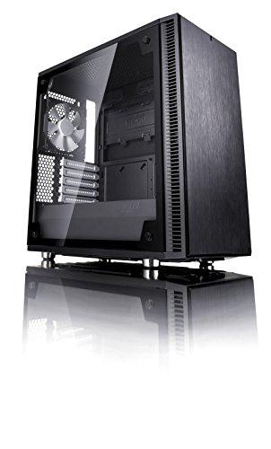 Fractal Design Define Mini C Tempered Glass, PC Gehäuse (Midi Tower mit Seitenteil aus gehärtetem Glas) Case Modding für (High End) Gaming PC, schwarz