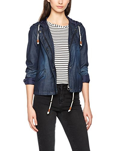 Only Onlskylar Denim Parka Otw Noos, Blouson Femme Bleu (Medium Blue Denim)