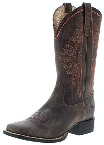 Ariat Damen Cowboy Stiefel 25038 Round UP Rio Westernreitstiefel Braun 38.5 EU - Distressed Braun Cowboy Stiefel