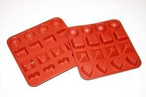 Moule silicone a chocolat en  4x4 formes HP FRANCE/BAUMALU