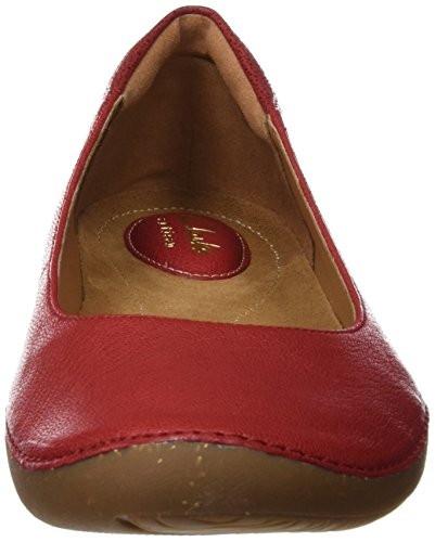 Clarks Damen Autumn Sun ballet flats, Rot (Red Leather), 42 EU -