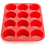 Ecoki Muffinblech aus Silikon für 12 Muffins - LFGB Zertifiziert BPA-frei Silikon Muffinform für Cupcakes, Brownies, Kuchen, Pudding - Antihaft & Leicht zu Reinigen 丨2 Jahren GARANTIE