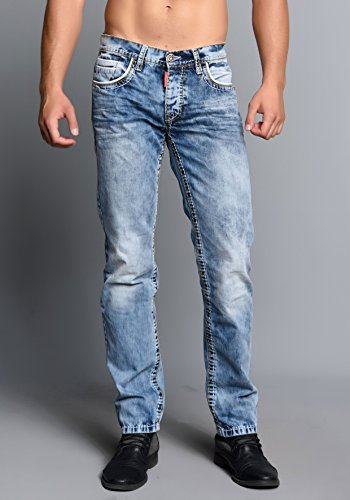 Cipo & Baxx Herren Jeans Regular Fit Designer Denim (32/32)