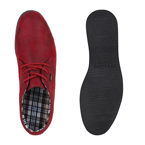 Modische Herren Schuhe | Business Schnürer | Halbschuhe Sneakers | Prints Lederoptik Freizeitschuhe Burgund Burgund