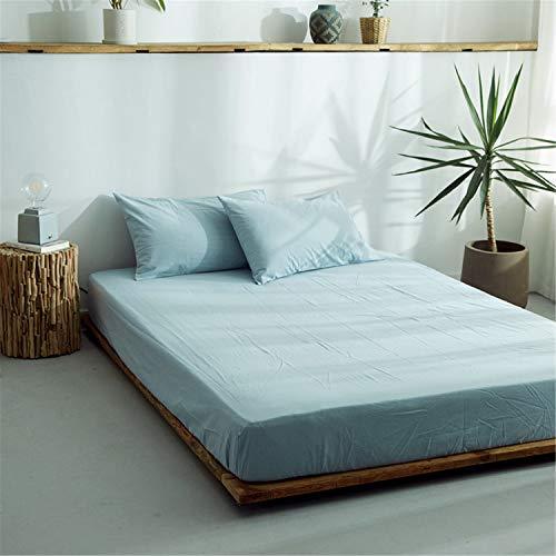CHLCH Protector de colchón/Cubre colchón Acolchado, Impermeable, antiácaros, (Todas Las Medidas) Funda de Cama Lavada de algodón Color sólido 2 135cmx200cm + 25