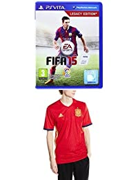 1f94d07530208 FIFA 15 + 1ª Equipación Selección Española de Fútbol Euro 2016 - Camiseta  oficial ...