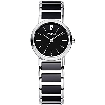 Bering Time Ceramic - Reloj de cuarzo para mujer, con correa de cerámica, color negro de Bering Time