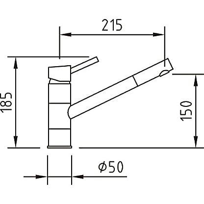 Clever 92603 Grifo DE Cocina Vertical Caiman Cromo, Cromado