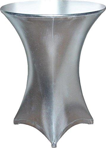 Stehtischhusse silber 75-80 cm