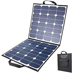 Panel Solar MOHOO 100W 5.5A 18V Sistema Solar Plegable de Células Solares para Autocaravanas, Automóviles, Embarcaciones, etc.