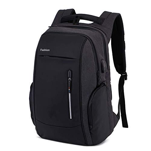Rucksack Laptop 17.3 Zoll Anti-Diebstahl Schulrucksack Teenager Herren Rucsack mit USB Anschluss,Schloss und Kopfhöreranschluss