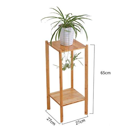FZN Multilayer Balcon créatif Fleur Pots de Fleurs araignée charnue Bambou étage Salon de Jardin voyantes Pots de Fleurs (Taille : 27 * 27 * 65cm)