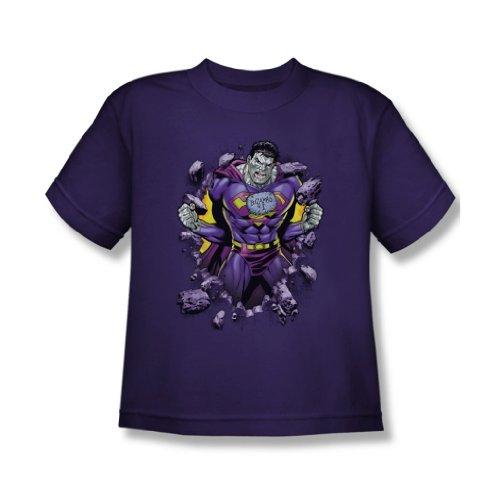 Superman - Jugend Bizzaro Breakthrough T-Shirt in Lila, X-Large, Purple
