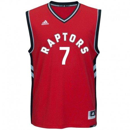 adidas Herren Toronto Raptors Lowry Replica Basketballtrikot Nba Trikots, Rot / Schwarz / Grau, L-54