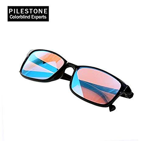 PILESTONE TP-012 Korrekturbrille bei Rot-Grün-Sehschwäche - Bei leichter, mittlerer und starker Grünsehschwäche und leichter bis mittlerer Rotsehschwäche