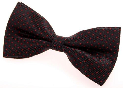Retreez - Nœud papillon - Homme Noir - schwarz mit rot punkten