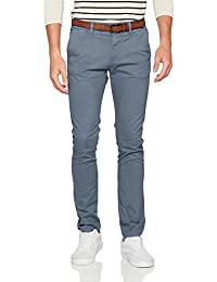 Tom Tailor Denim Skinny Chino Solid with Belt, Pantalon Homme
