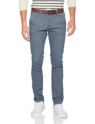TOM TAILOR Denim Herren Hose Skinny Chino Solid with Belt, Blau (China Blue 6714), W30/L32 (Herstellergröße: 30)