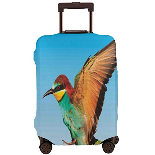 Travel Luggage Cover,Tropical Colorful Bird Flying In The Clear Sky Exotic Wildlife and Nature Suitcase Protector