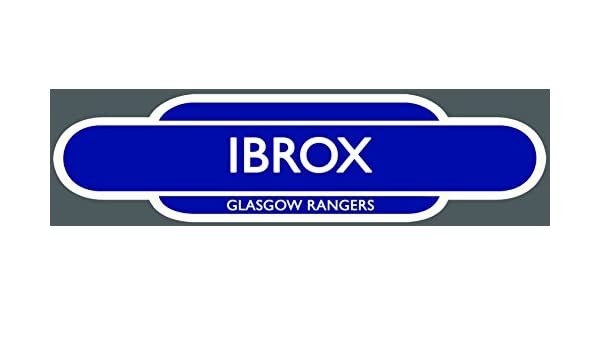 INSIDE OR OUTSIDE USE. GLASGOW RANGERS RAILWAY TOTEM FOOTBALL SIGN