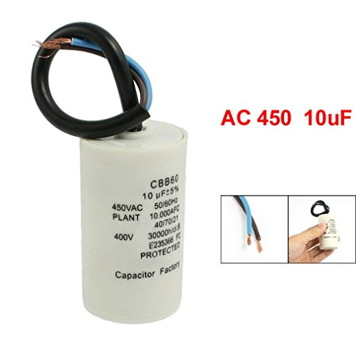 SODIAL (R) Polypropylen Folien Zylinder Geformter CBB60 10uF Motor Kondensator -