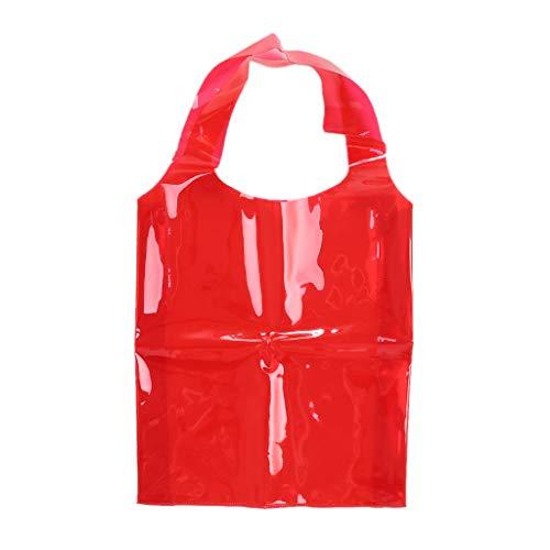 YFairy Einkaufstasche, modisch, PVC, für Damen, Mädchen, Gelee, Sommer, Strand, Schultertasche, Einkaufstasche, Reisen, 3 Farben Tote rose - Doppelte Tür-gelee