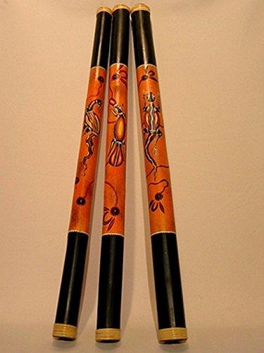 Bambus Didgeridoo - Länge 120cm - aufwendig bemalt - inkl. Lern-CD Didgman 1