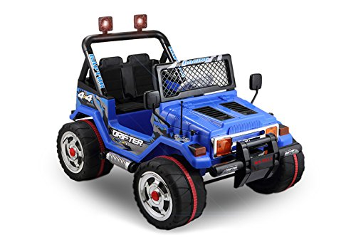 Preisvergleich Produktbild JEEP 2 SITZER Kinder Elektro Akku Offroad Fernsteuerung elektrisch ATV Geländewagen Cross Dirt Pit Bike 2x 30W 12V (blau)