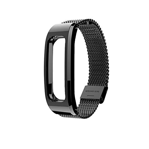 für Huawei Honor Running Band 4 Uhrenarmband,Hongtianyuan Metallarmband Ersatzarmbänder Ersatzarmband Erweiterbar Armband für Huawei Honor Running Band 4 (Schwarz) - Bänder Herren-erweiterbar-uhr