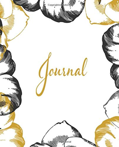 Journal: Vintage White and Gold Floral -
