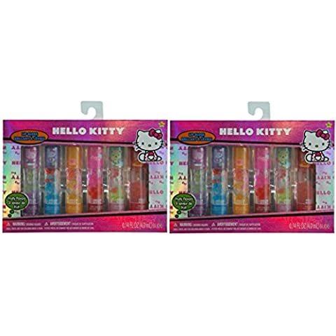 Hello Kitty Roller Lip Gloss 6 pk in Window Bow with Glitter x 2 box by Hello Kitty