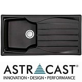 Astracast Sierra 1.0 Bowl Reversible Teflite Kitchen Sink in Black | Waste