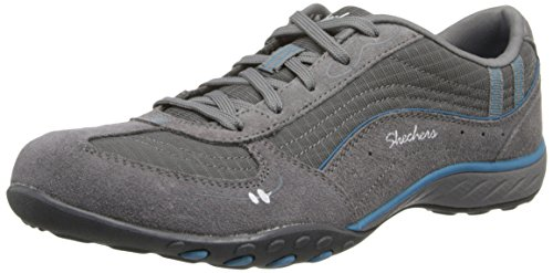 Skechers Breathe Easy Just Relax, Women's Low-Top Sneakers, Charcoal/Blue, 6 UK (39...