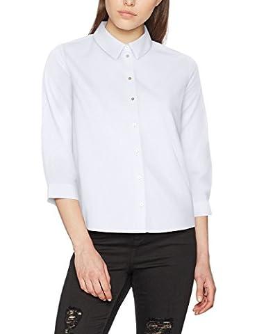 ONLY Damen Regular Fit Bluse onlSIMEY 3/4 SHIRT BOX WVN, , , , , Gr. 38, Weiß (Bright White Bright White)
