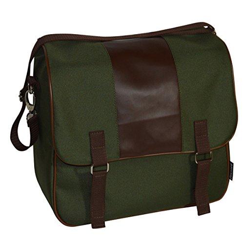 C-BAGS ELEGANCE single CLASSIC Gepäckträger Fahrrad Tasche verschiedene Muster Olive