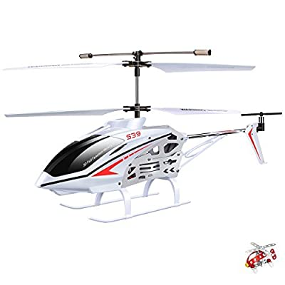 Syma S39 Remote Control RC Helicopter Gyroscope For Adults Children-white