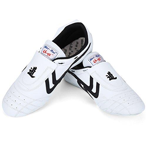 VGEBY1 Taekwondo Schuhe, Atmungsaktiv Rutschfeste Taekwondo Sport Boxen Kung Fu Taichi Leichte Schuhe für Männer und Frauen(42)