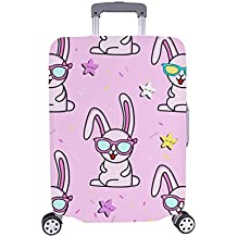 Conejo Encantador con el patrón de Las niñas y los niños Spandex Maleta de Viaje Maleta