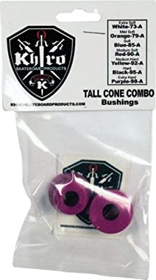 Khiro Tall Cone Combo Bushing/Wash Kit 99a X-Hrd Purple by Khiro