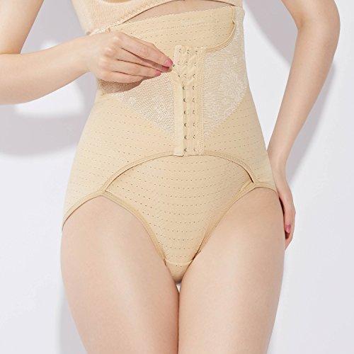 Fzmix Fashion Women Body Shaper Slim Briefs High Waist Tummy Control Shorts Pant Shape Wear Newest Beige