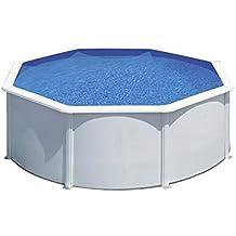 Piscina desmontable de acero blanco redonda 300 x 120 cm con depuradora de arena y escalera