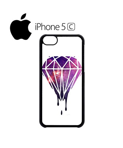 Dripping Diamond Galaxy Mobile Cell Phone Case Cover iPhone 5c Black Schwarz