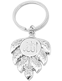 Faynci Mashallah Islam Islamic Sterling Silver ALLAH Arabic Key Chain With Leaf Gift For Ramadan, Eid