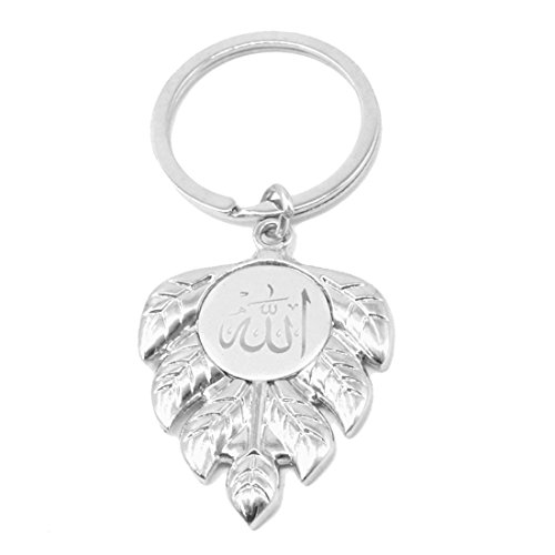 Faynci Mashallah Islam Islamic Sterling silver ALLAH arabic Key Chain with Leaf...