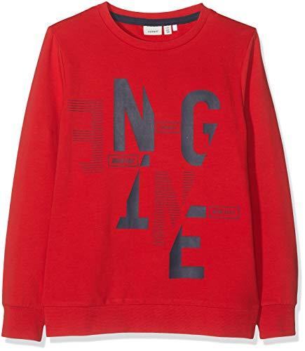 NAME IT Jungen Nkmkerem Ls Sweat Box Unb Sweatshirt, Rot (Mars Red), 134/140 (Herstellergröße: 134-140) -